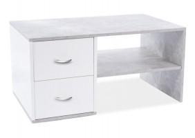 Журнальный столик HELEN бетон / белый мат 100X60X50