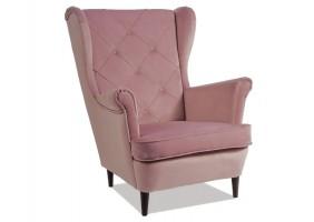 Кресло LADY MATT VELVET 63 античная роза / венге