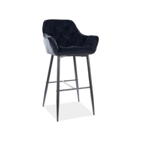 thumb Барный стул CHERRY H-1 VELVET черный каркас / черный Черный 1