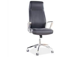 Кресло поворотное Q-321 черная Экокожа