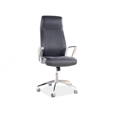 thumb Кресло поворотное Q-321 черная Экокожа 1