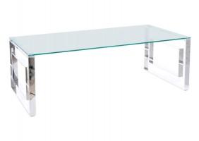 Журнальный столик ALLURE A прозрачный / серебряный 120X60