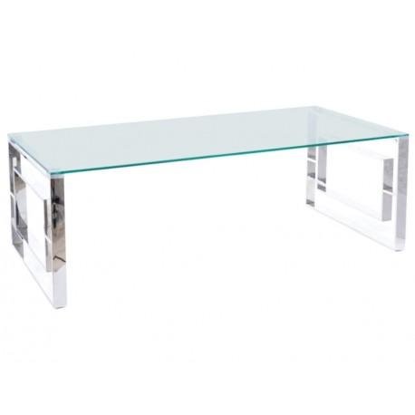 thumb Журнальный столик ALLURE A прозрачный / серебряный 120X60 1