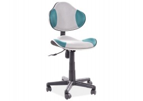 Кресло поворотное Q-G2 БИРЮЗА / серый