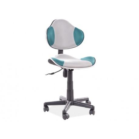 thumb Кресло поворотное Q-G2 БИРЮЗА / серый 1