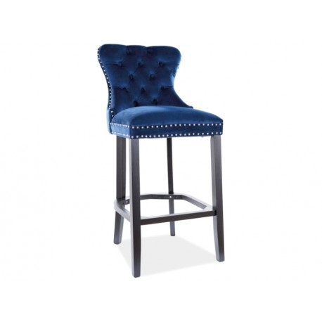 thumb Барный стул AUGUST H-1 VELVET черный каркас / синий BLUVEL 86 1
