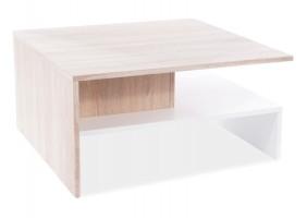Журнальный столик LIDA дуб Сонома / белый мат 80X80X40