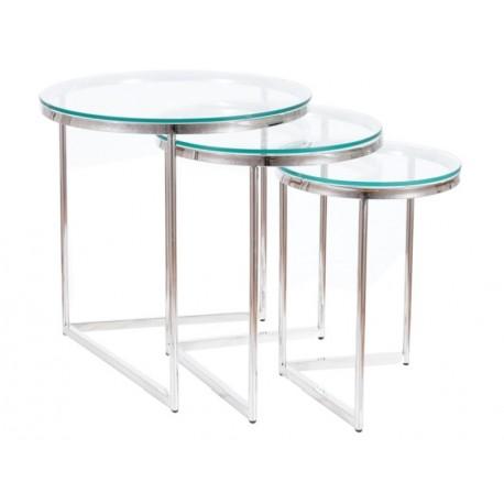 thumb Журнальный столик TRINITY прозрачный / серебряный (Комплект) 1