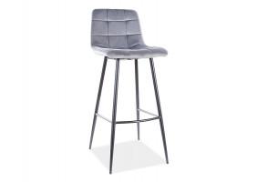 Барный стул MILA H-1 VELVET черный каркас / черный Черный