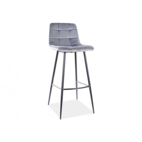 thumb Барный стул MILA H-1 VELVET черный каркас / черный Черный 1