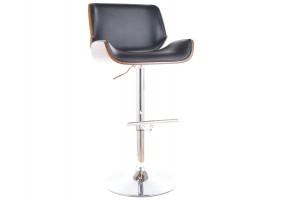 Барный стул C-405 хром черная Экокожа