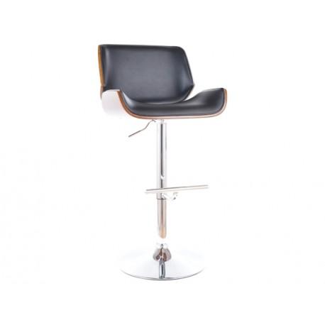 thumb Барный стул C-405 хром черная Экокожа 1