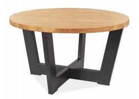 Журнальный столик CONO B LAMINAT дуб / черный Диаметр 80