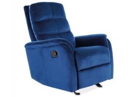 Кресло раскладное JOWISZ VELVET синий BLUVEL 86