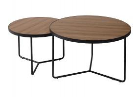 Журнальный столик ITALIA II орех / черный (Комплект)
