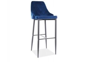 Барный стул TRIX B H-1 черный каркас / синий BLUVEL 86
