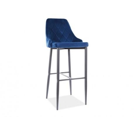 thumb Барный стул TRIX B H-1 черный каркас / синий BLUVEL 86 1