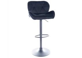 Барный стул C122 VELVET черный каркас / черный TAP.117