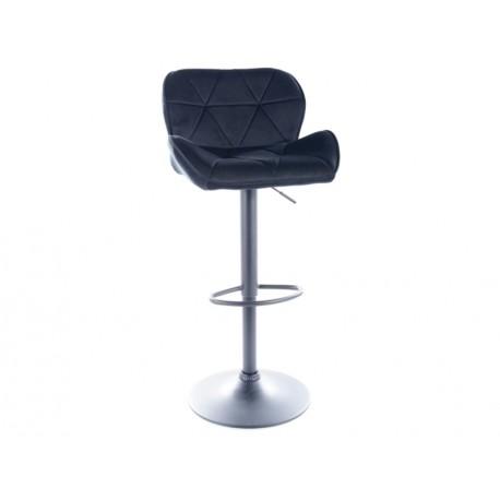 thumb Барный стул C122 VELVET черный каркас / черный TAP.117 1