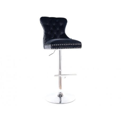 thumb Барный стул AUGUST C H-1 VELVET хром каркас / черный Черный 1
