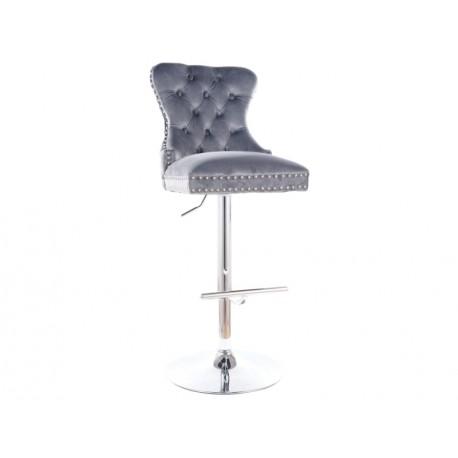 thumb Барный стул AUGUST C H-1 VELVET хром каркас / серый BLUVEL 14 1