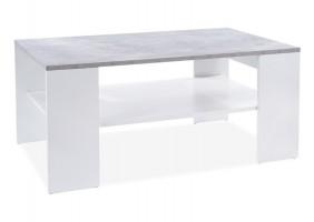 Журнальный столик SIONA бетон / белый мат 110X65X50