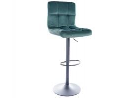 Барный стул C105 VELVET черный каркас / зеленый BLUVEL 78