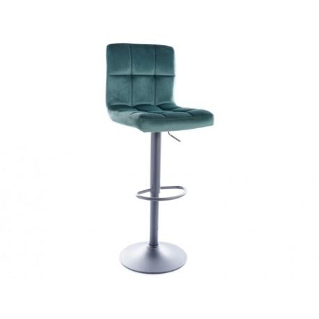 thumb Барный стул C105 VELVET черный каркас / зеленый BLUVEL 78 1