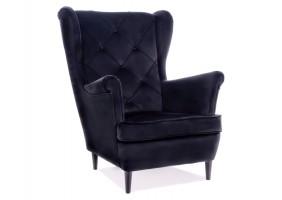 Кресло LADY MATT VELVET 99 черный / венге