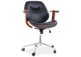 Кресло поворотное RODEO черная Экокожа