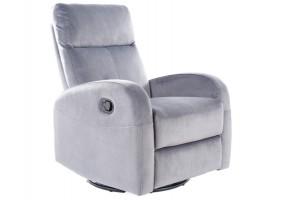 Кресло раскладное OLIMP VELVET серый BLUVEL 14