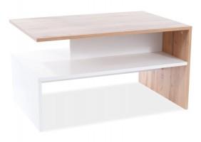 Журнальный столик FRIDA цвет дуб Вотан / белый мат 90x60x50