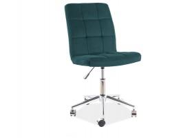 Кресло поворотное Q-020 VELVET зеленый BLUVEL 78