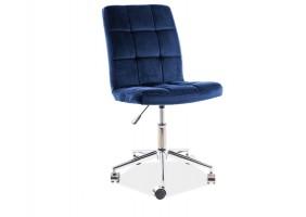 Кресло поворотное Q-020 VELVET синий BLUVEL 86