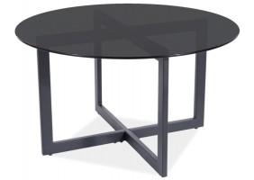 Журнальный столик ALMERIA A черный прозрачный / черный Диаметр 80X42