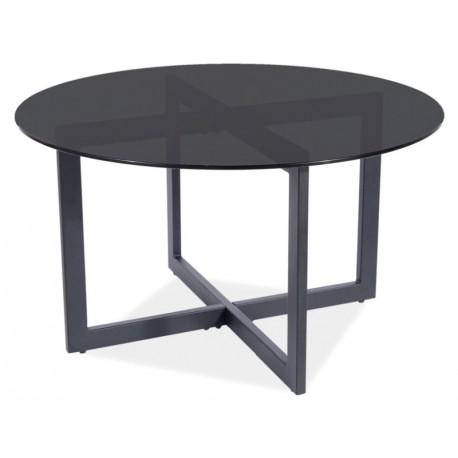 thumb Журнальный столик ALMERIA A черный прозрачный / черный Диаметр 80X42 1