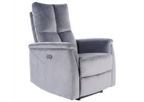 Кресло раскладное NEPTUN VELVET серый BLUVEL 14
