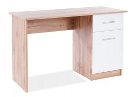 Компьютерный стол B-002 дуб Вотан / белый мат
