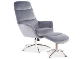Кресло NIXON VELVET серый BLUVEL 14