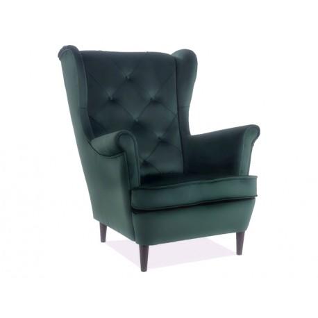 thumb Кресло LADY MATT VELVET 75 зеленый / венге 1