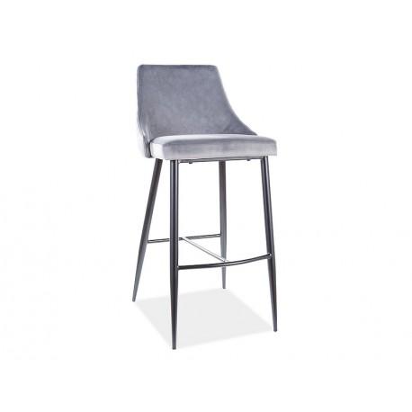 thumb Барный стул PIANO B H-1 VELVET черный каркас / серый BLUVEL 14 1