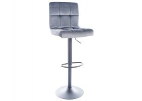 Барный стул C105 VELVET черный каркас / серый BLUVEL 14