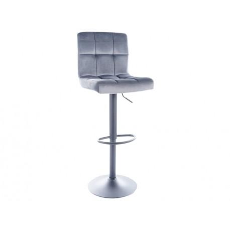 thumb Барный стул C105 VELVET черный каркас / серый BLUVEL 14 1
