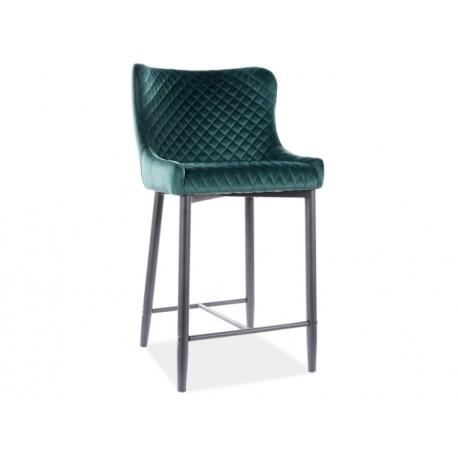 thumb Полубарный стул COLIN B H-2 VELVET черный каркас / зеленый BLUVEL78 1