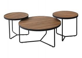 Журнальный столик DEMETER II орех / черный (Комплект)