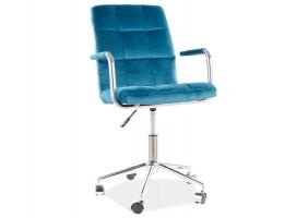 Кресло поворотное Q-022 VELVET БИРЮЗА BLUVEL 85