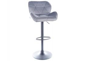 Барный стул C122 VELVET черный каркас / серый TAP.72