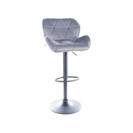 thumb Барный стул C122 VELVET черный каркас / серый TAP.72 1