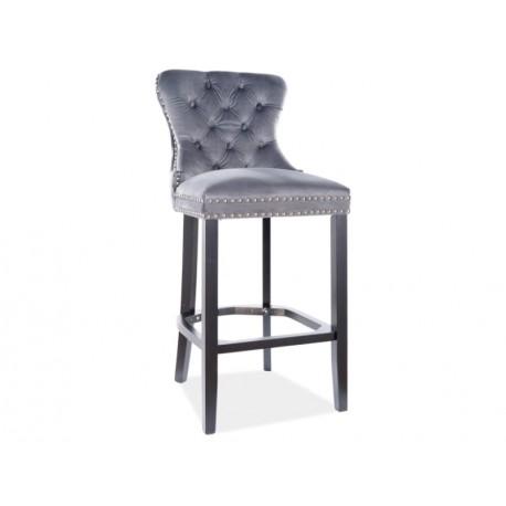 thumb Барный стул AUGUST H-1 VELVET черный каркас / серый BLUVEL 14 1