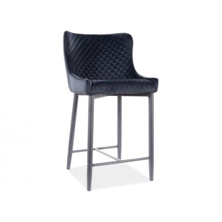 thumb Полубарный стул COLIN B H-2 VELVET черный каркас / черный BLUVEL19 1